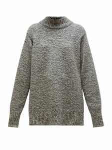 The Row - Edmund Mock-neck Cashmere Sweater - Womens - Grey Multi