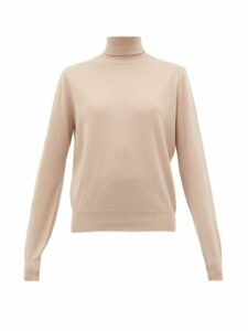 The Row - Seiler Roll-neck Cashmere-blend Sweater - Womens - Beige