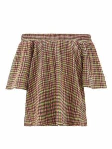 Ace & Jig - Marisol Bardot Checked-cotton Top - Womens - Multi