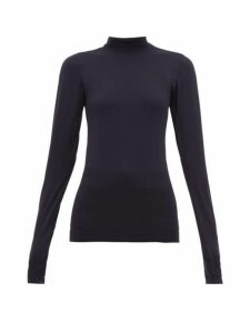 Falke - High Neck Stretch Jersey Performance Top - Womens - Navy