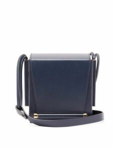 Roksanda - Box Leather Cross-body Bag - Womens - Blue