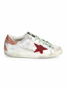 Superstar Metallic Glitter-Back Sneakers