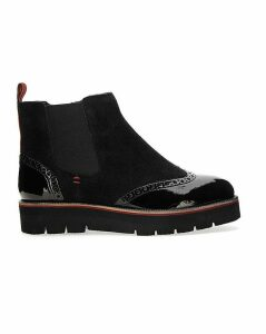 Linda Stripe Ankle Boot Extra Wide Fit