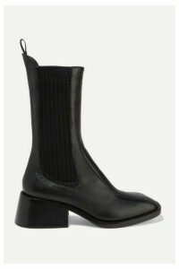 Chloé - Bea Textured-leather Chelsea Boots - Black