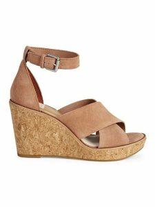Urbane Suede Wedge Sandals
