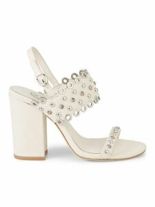 Lucy Embellished Leather Sandals
