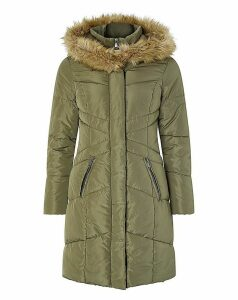 Monsoon Victoria Long Wrap Padded Coat