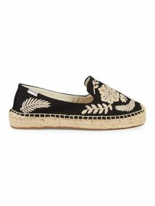 Tuillerie Embroidered Floral Espadrille Flats