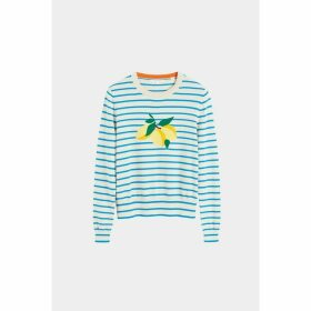 Chinti & Parker Blue Stripe Lemon Sweater