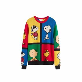Chinti & Parker Multi-colour Peanuts Pop Cotton Sweater