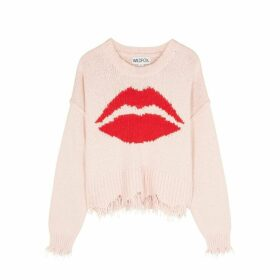 Wildfox First Kiss Luna Pink Cotton Jumper