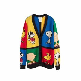 Chinti & Parker Multi-colour Peanuts Pop Cotton Cardigan