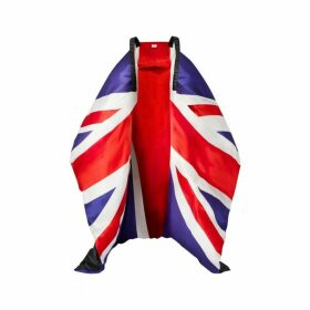 Burberry Union Jack And Logo Print Oversized Puffer Cape
