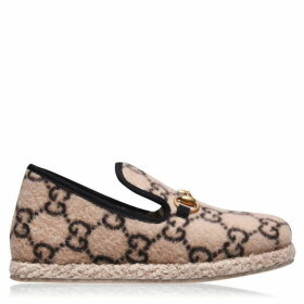 Gucci Fria Fur Loafer Slippers