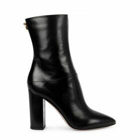 Valentino Garavani Ringstud 100 Black Leather Boots