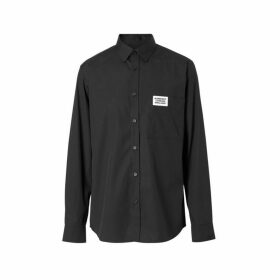 Burberry Logo Detail Stretch Cotton Poplin Shirt