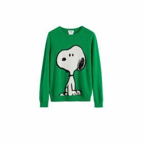 Chinti & Parker Green Classic Snoopy Wool-cashmere Sweater