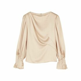 Peter Pilotto Blush Hammered Satin Top