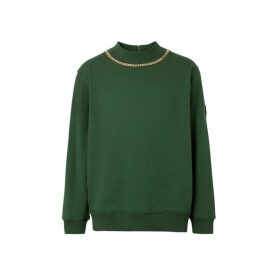 Burberry Chain Detail Cotton Sweatshirt