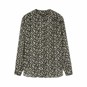 Isabel Marant Daws Printed Lamé-weave Blouse