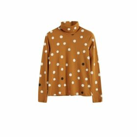 Chinti & Parker Ginger Painted Spot Long Sleeve Cotton T-shirt