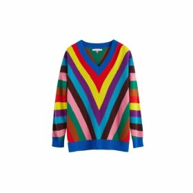 Chinti & Parker Multicolour Virginia Striped Wool-cashmere Sweater
