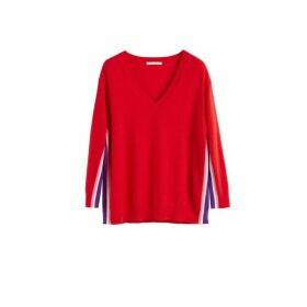Chinti & Parker Red Heritage Striped Wool-cashmere Sweater