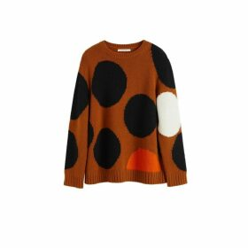 Chinti & Parker Ginger Dot Wool-cashmere Sweater
