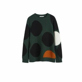 Chinti & Parker Green Dot Wool-cashmere Sweater