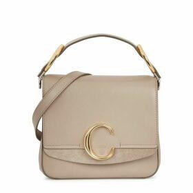 Chloé Chloé C Medium Leather Top Handle Bag