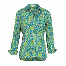 At Last. - Soho Shirt-Turquoise & Lime