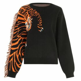 Hayley Menzies - Tiger Head Black Jumper