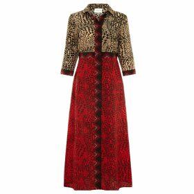 Hayley Menzies - Crocodile Mix Shirt Dress