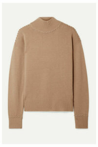 Theory - Whipstitched Cashmere Turtleneck Sweater - Camel