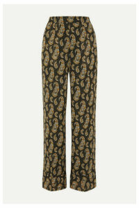 Altuzarra - Bani Paisley-print Silk Crepe De Chine Wide-leg Pants - Black