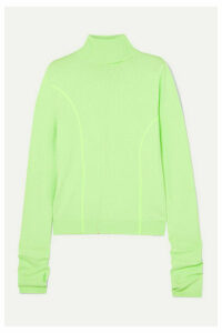 Andersson Bell - Neon Knitted Turtleneck Sweater - Light green
