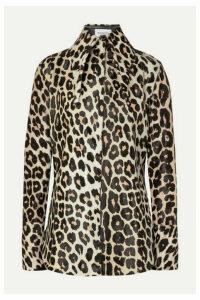 16ARLINGTON - Seymour Leopard-print Calf Hair Shirt - Leopard print