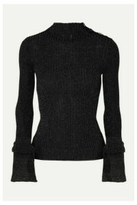Roland Mouret - Kiruna Ribbed Lurex Turtleneck Sweater - Black
