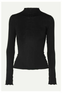 The Line By K - Zane Stretch-jersey Turtleneck Top - Black