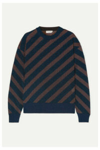 Sonia Rykiel - Striped Metallic Knitted Sweater - Navy