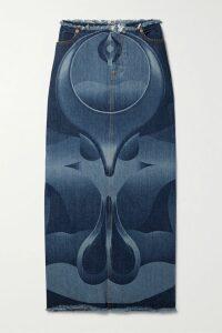 Sonia Rykiel - Striped Metallic Knitted Sweater - Navy