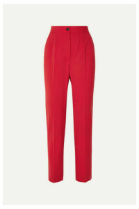 Dolce & Gabbana - Wool-blend Straight-leg Pants - Red