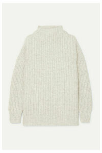 Lauren Manoogian - Fisherwoman Alpaca And Organic Cotton-blend Sweater - Gray