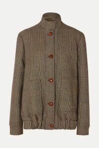 Giuliva Heritage - Diana Prince Of Wales Checked Merino Wool Jacket - Brown