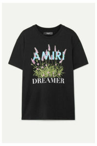 AMIRI - Printed Cotton-jersey T-shirt - Black
