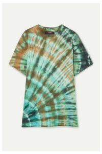 AMIRI - Distressed Tie-dyed Stretch Cotton-jersey T-shirt - Green