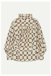 Isabel Marant - Brandi Printed Stretch-silk Crepe De Chine Blouse - Ecru