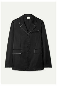 Burberry - Crystal-embellished Mulberry Silk-satin Shirt - Black