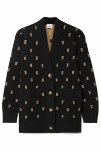 Burberry - Intarsia-knit Cardigan - Black