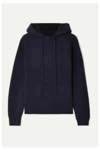 Theory - Ribbed Cashmere Hoodie - Midnight blue